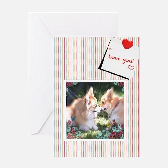 Two Corgis Meet Valentine Greeting Cards