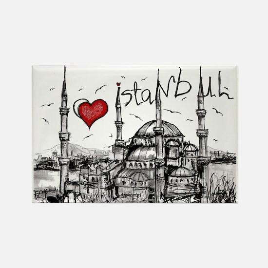 I love Istanbul Rectangle Magnet