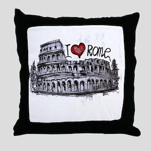 I love Rome  Throw Pillow