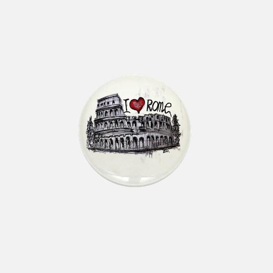 I love Rome  Mini Button