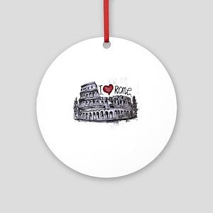 I love Rome  Round Ornament