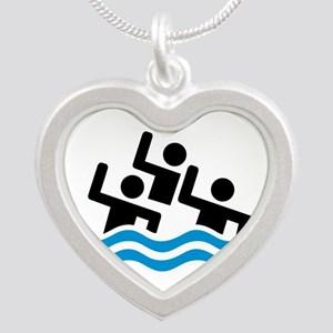 Synchronized swimming Silver Heart Necklace