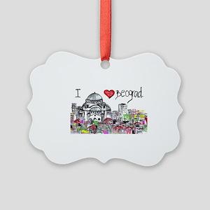 I love Beograd Picture Ornament