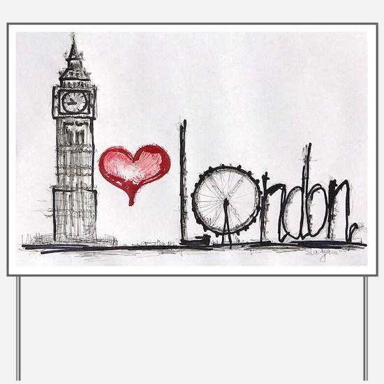 I love London Yard Sign