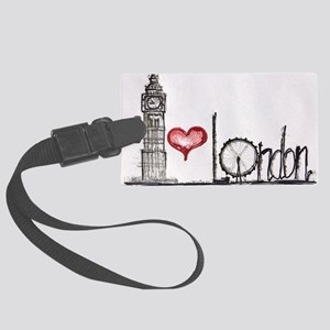 I love London Large Luggage Tag