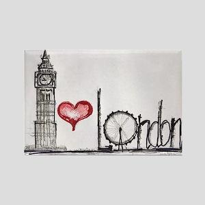 I love London Rectangle Magnet