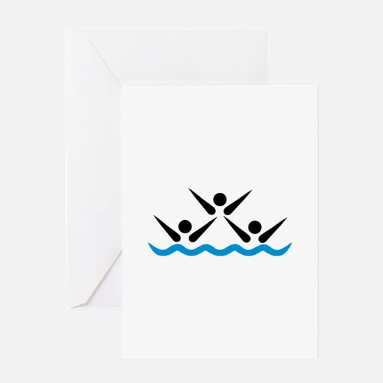 Synchronized swimming icon Greeting Card