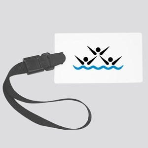 Synchronized swimming icon Large Luggage Tag