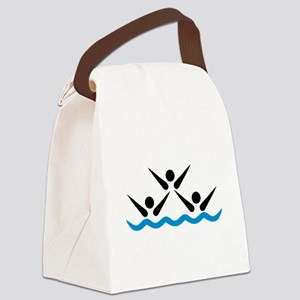 Synchronized swimming icon Canvas Lunch Bag