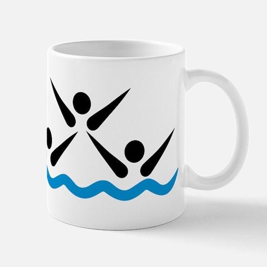 Synchronized swimming icon Mug