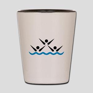 Synchronized swimming icon Shot Glass