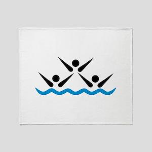 Synchronized swimming icon Throw Blanket