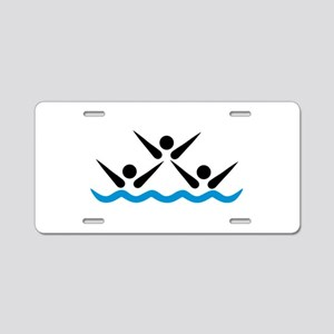 Synchronized swimming icon Aluminum License Plate