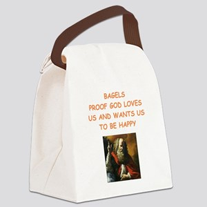 bagels Canvas Lunch Bag
