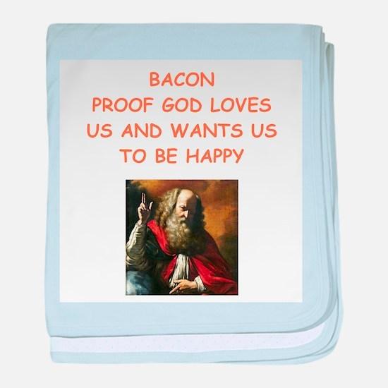 bacon baby blanket