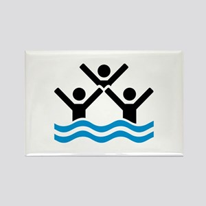 Synchronized swimming logo Rectangle Magnet