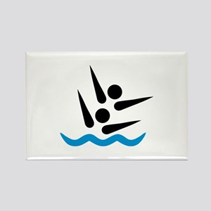 Synchronized swimmer Rectangle Magnet