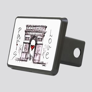 Paris with love  Rectangular Hitch Cover