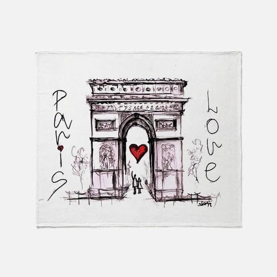 Paris with love  Throw Blanket