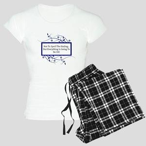 Everything Will Be OK Quote Women's Light Pajamas