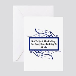 Quotes greeting cards cafepress everything will be ok quote greeting card m4hsunfo