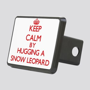 Keep calm by hugging a Snow Leopard Hitch Cover