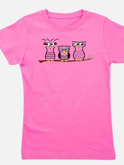 Three Little Owls Girl's Tee