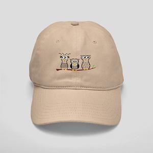 Three Little Owls Cap