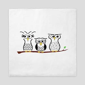 Three Little Owls Queen Duvet