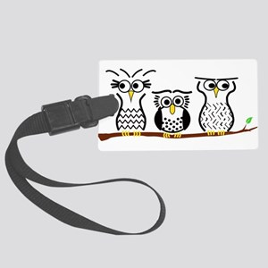 Three Little Owls Large Luggage Tag