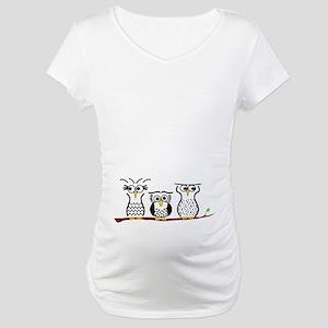 Three Little Owls Maternity T-Shirt