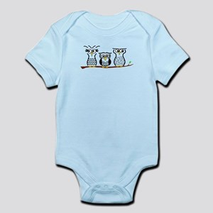 Three Little Owls Infant Bodysuit