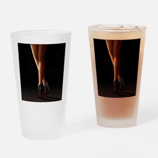 Legs on high heels Drinking Glass