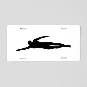 Swimming swimmer Aluminum License Plate