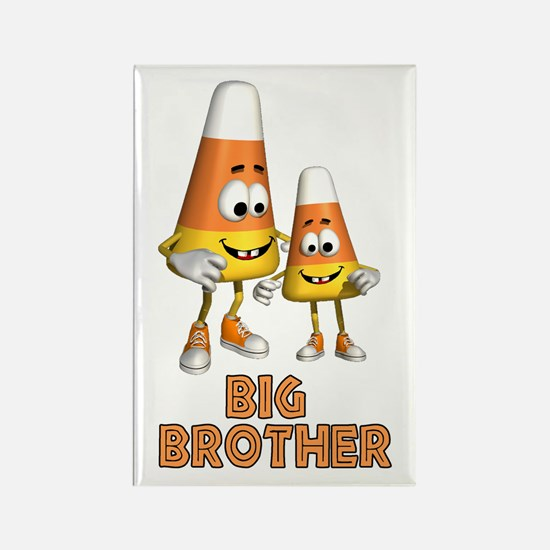 Candy Corn Big Brother Rectangle Magnet