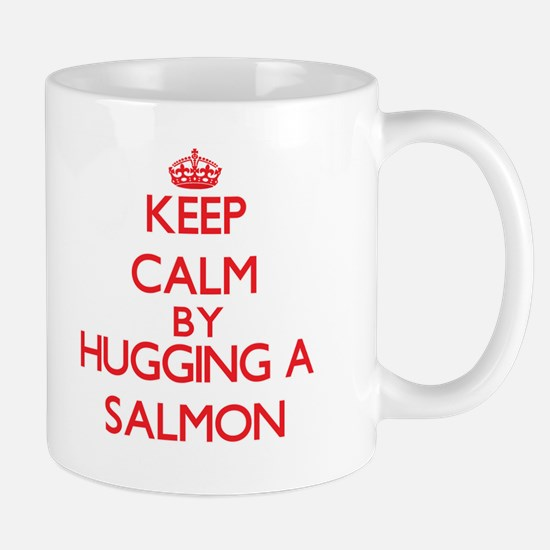 Keep calm by hugging a Salmon Mugs