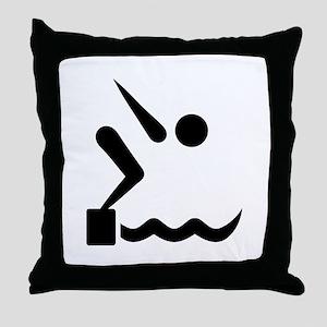 Swimming icon Throw Pillow