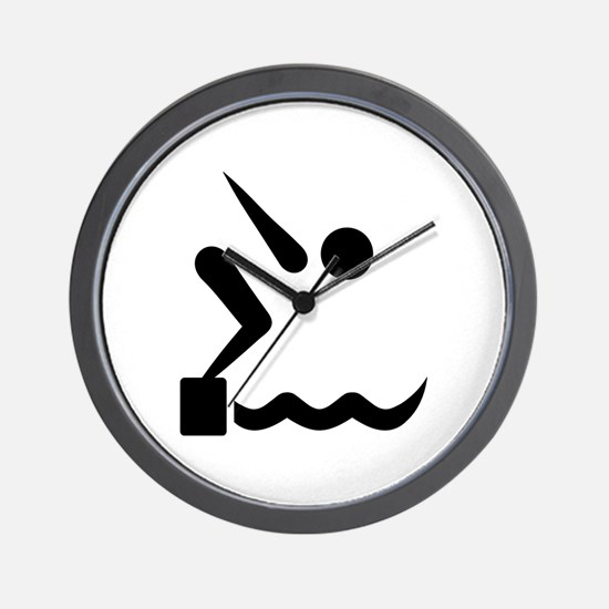 Swimming icon Wall Clock