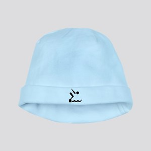 Swimming icon baby hat