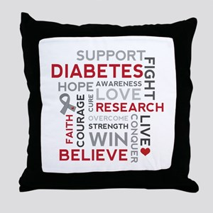 Support Diabetes Research Awareness Throw Pillow