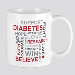 Support Diabetes Research Awareness Mugs