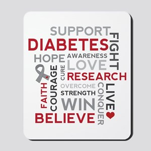 Support Diabetes Research Awareness Mousepad