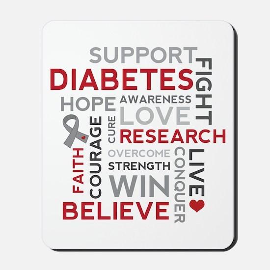 Support Diabetes Research Awareness Mousepad