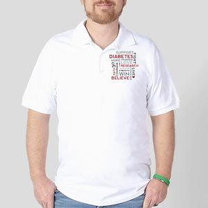 Support Diabetes Research Awareness Golf Shirt
