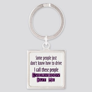 Bad Drivers (Purple) Square Keychain