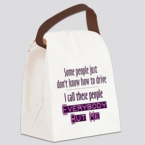 Bad Drivers (Purple) Canvas Lunch Bag