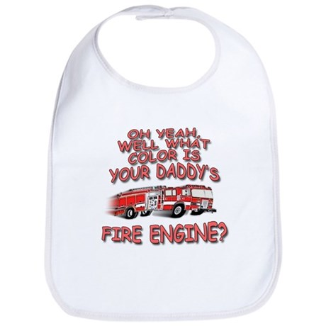 Daddy Fire Truck Bib