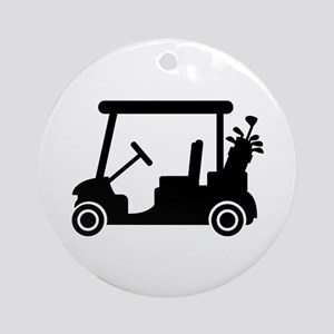 Golf car Ornament (Round)