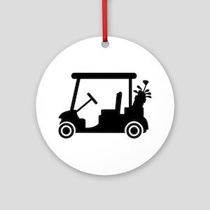 Golf car Ornament (Round)