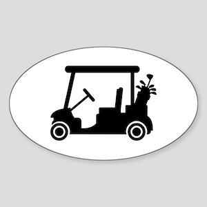 Golf car Sticker (Oval)